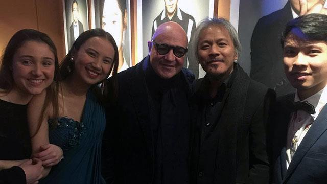Bianca at the premiere of 'A Lullaby to the Sorrowful Mystery' at the Berlinale, with Silver Bear winner Lav Diaz and Golden Bear winner Gianfranco Rossi