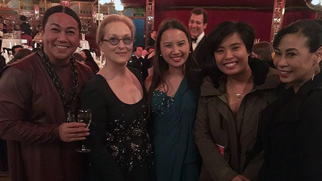 With actress Meryl Streep, who headed the Berlinale jury