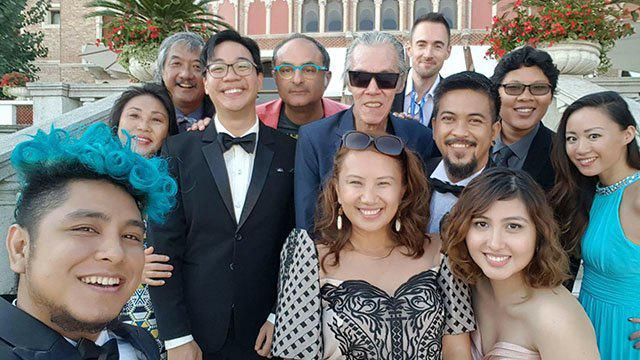 Bianca and the crew & cast of 'Singing In The Graveyards' at the Venice Biennale