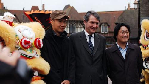 James Lee, Philippe (Mayor of Deauville) and Park Chan-Wook