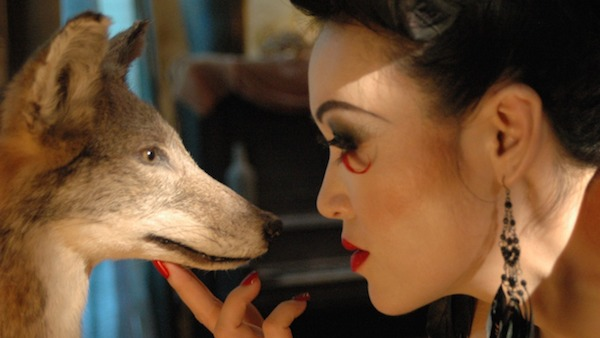 The actress Kathryn Kim plays Yuri's mom, seen here on set a taxidermy pet. Photo by Jody Schiesser. Used with permission.