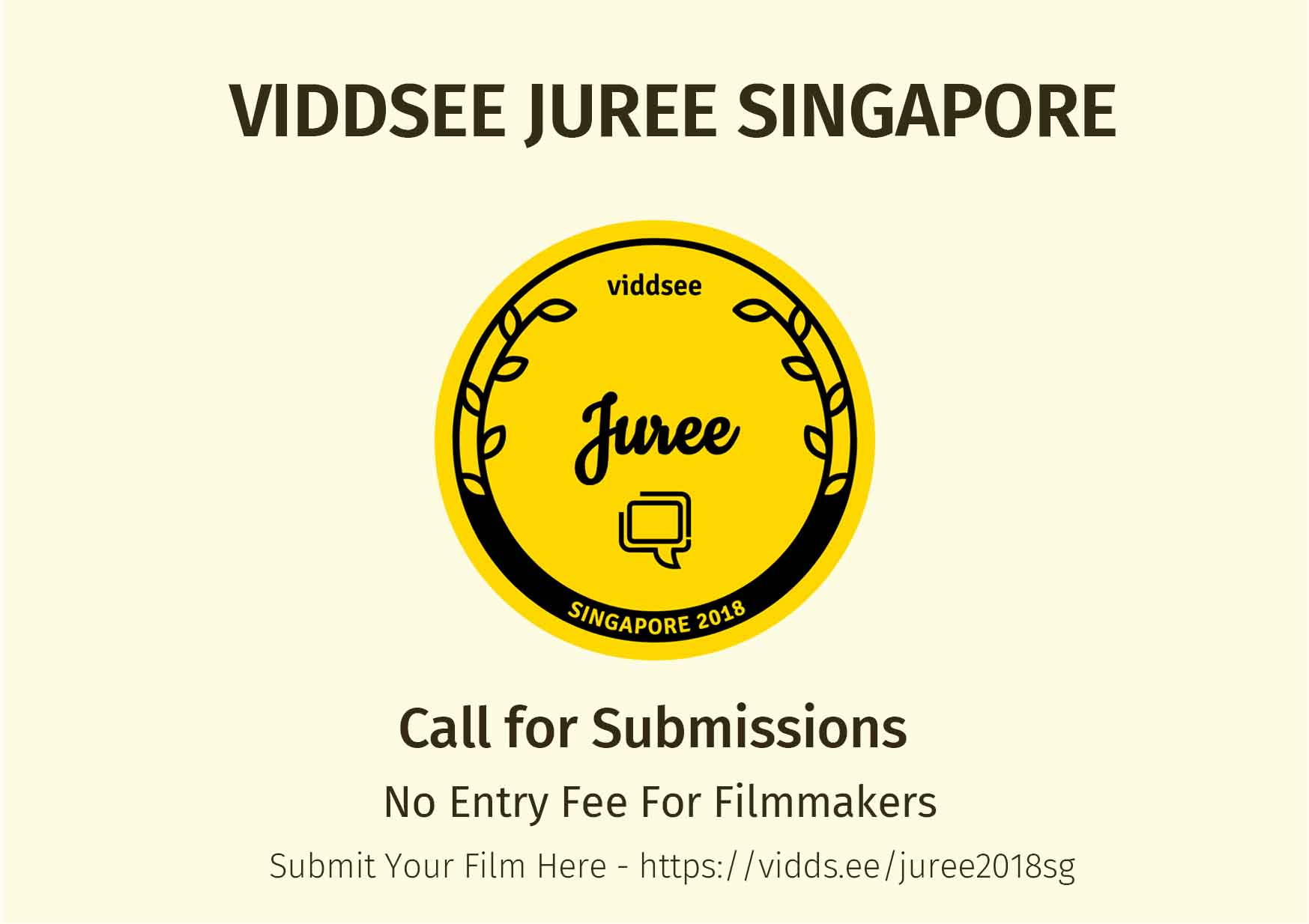 Viddsee Juree Singapore call for submissions - no entry fee for filmmakers